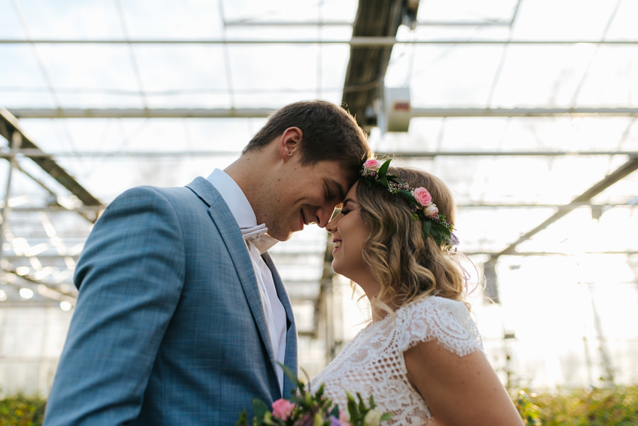 sesja ślubna w szklarni w małopolsce