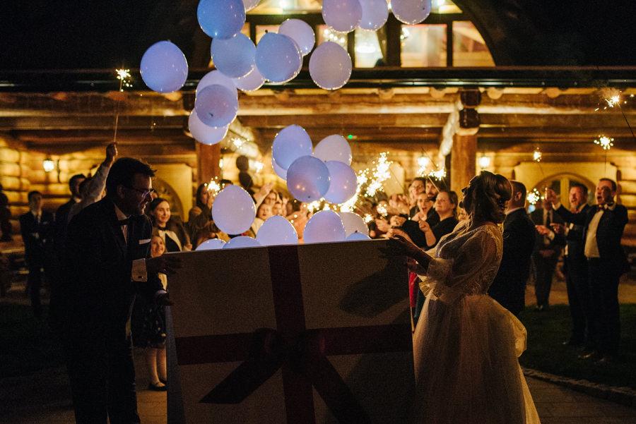 prezent ślubny balony