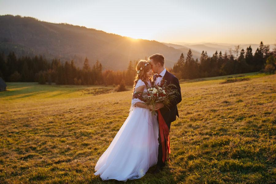 sesja ślubna w górach fotografia